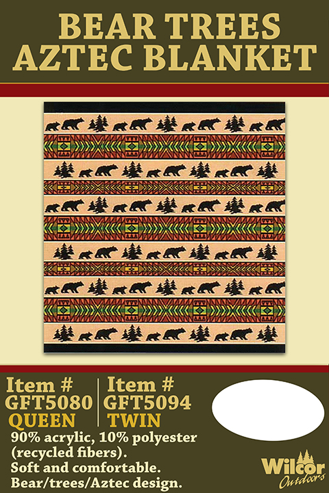 Bear Trees Aztec Blanket POP