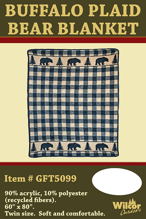 Buffalo Plaid Bear Blanket